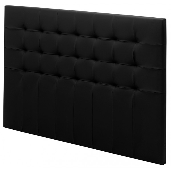 t te de lit charme aspect cuir noir. Black Bedroom Furniture Sets. Home Design Ideas
